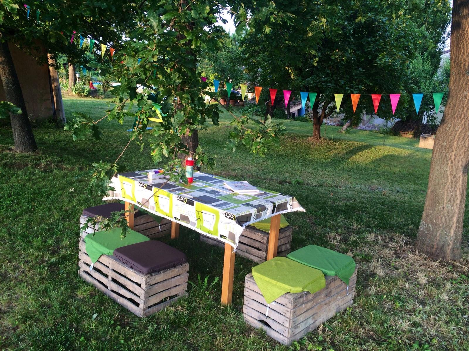 Festa di compleanno in giardino for Allestimento giardino