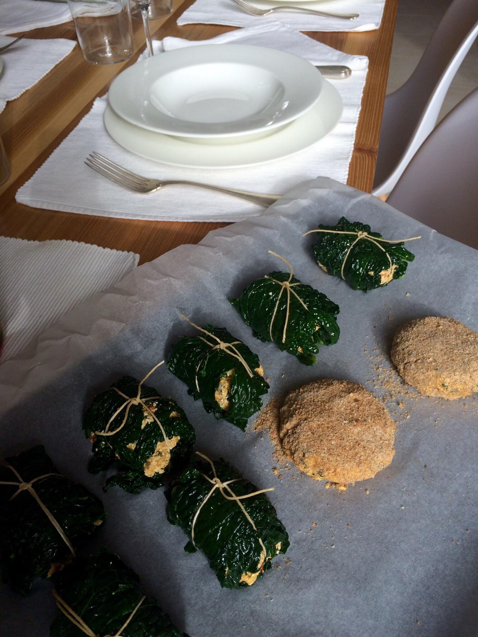 Involtini di cavolo nero con verdure e tofu - Corsi cucina piacenza ...