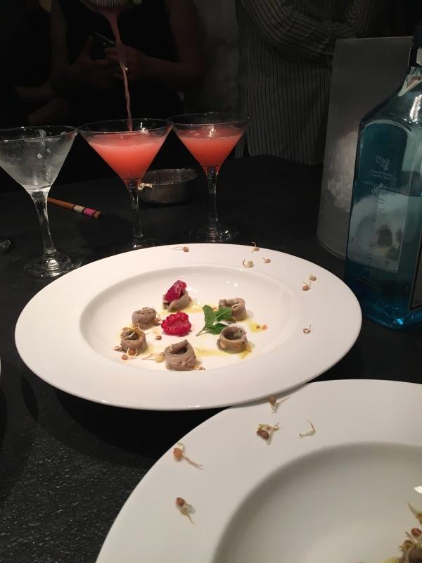 Acciughe marinate con lamponi e salsa allo zenzero - Corsi cucina piacenza ...